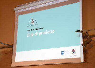 Club di prodotto Tivoli Terre di Benessere - Comune di Tivoli Planning e management Luciano de Venezia