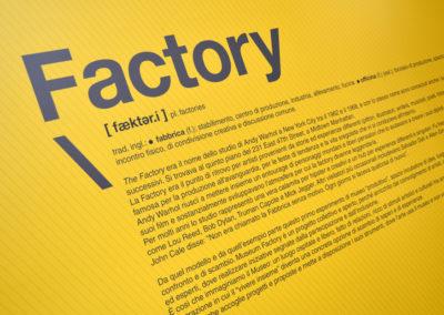 Museum Factory - Musei incubatore di creatività Art direction Luciano de Venezia produzione Mediateur